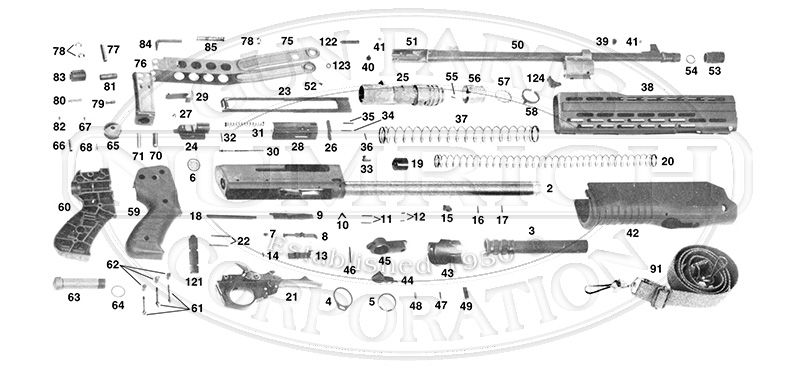 Franchi Shotguns Semi-Auto Gas Operated Shotguns Spas 12 gun schematic
