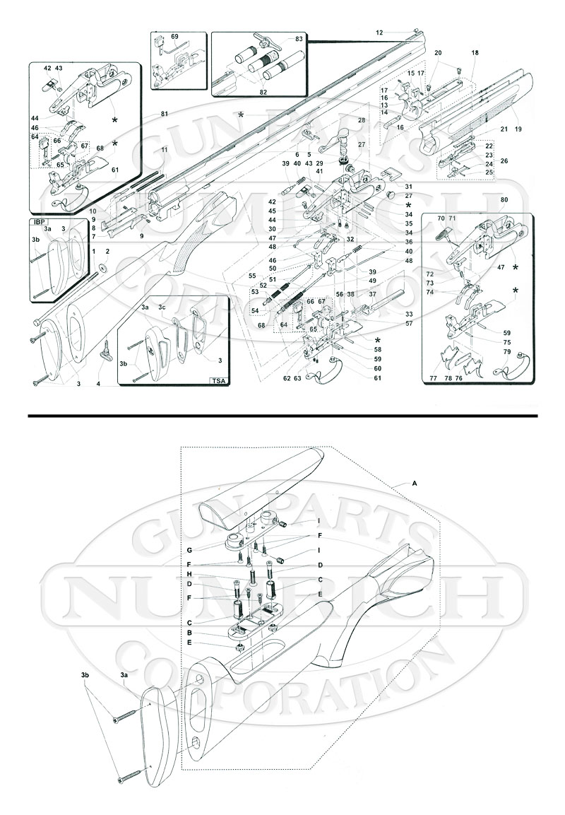 Franchi Shotguns Over/Under Veloce gun schematic