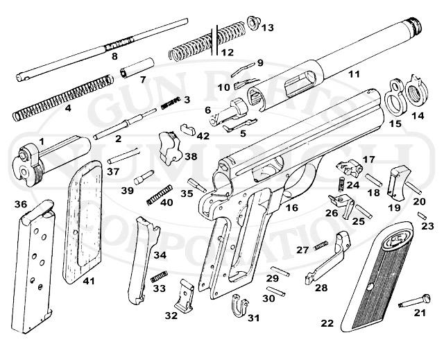 Frommer 1912 Stop gun schematic