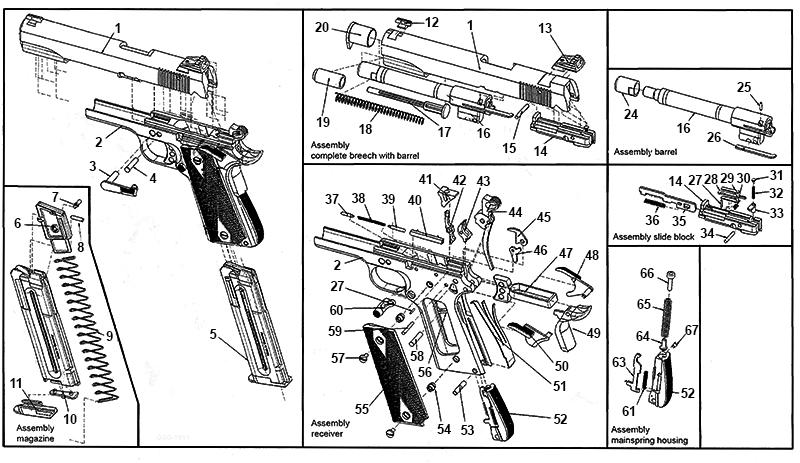 M1911 .22LR Schematic | Numrich