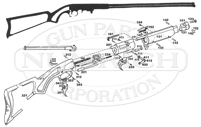 Garcia Bronco Takedown Rifle gun schematic