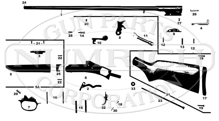 Harrington & Richardson Shotguns 480 Early Model gun schematic