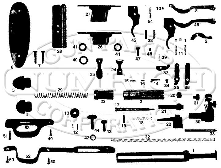 Harrington & Richardson Rifles 151 Leatherneck gun schematic