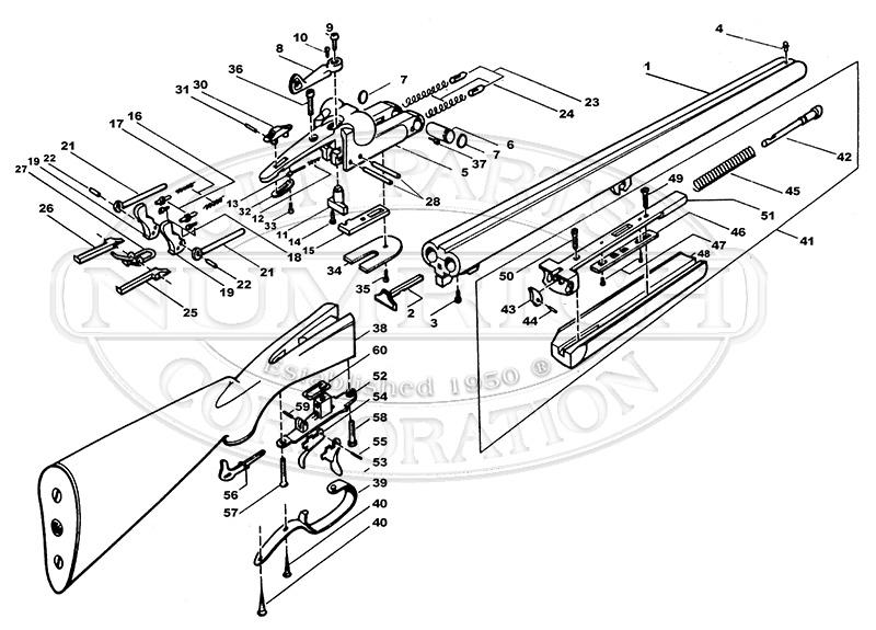 Rossi Shotguns Squire Double Barrel gun schematic