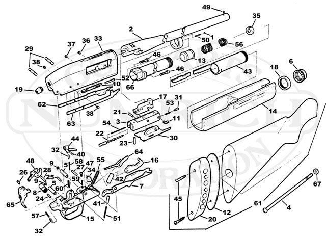 Harrington & Richardson Shotguns 440 gun schematic