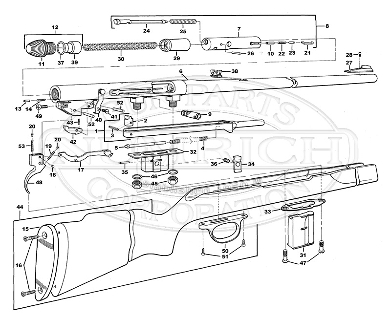 Harrington & Richardson Rifles 700 gun schematic
