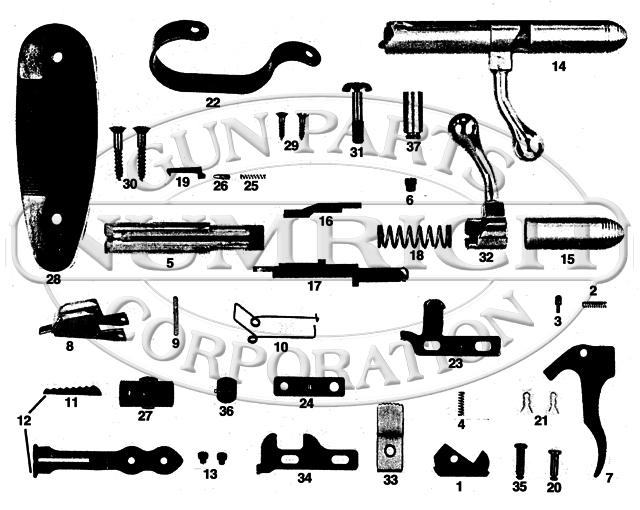 Harrington & Richardson Rifles 765 Pioneer gun schematic