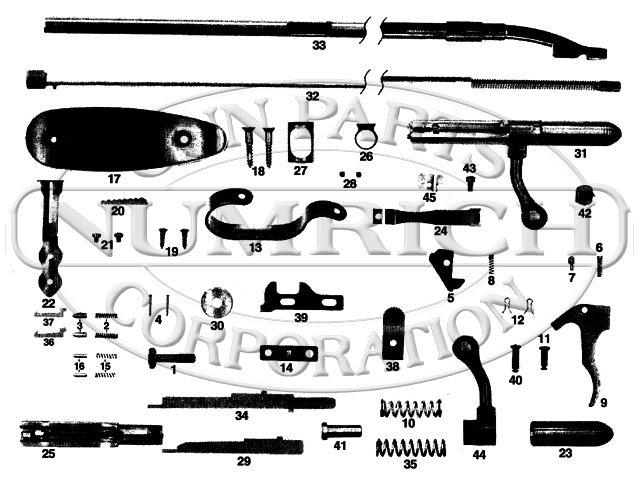 Harrington & Richardson Rifles 852 Fieldsman gun schematic