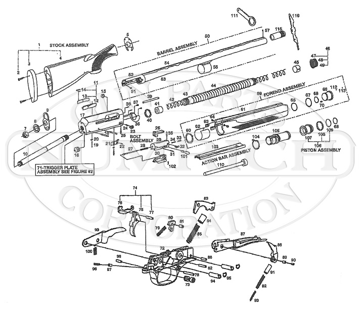 Harrington & Richardson Shotguns Excell gun schematic