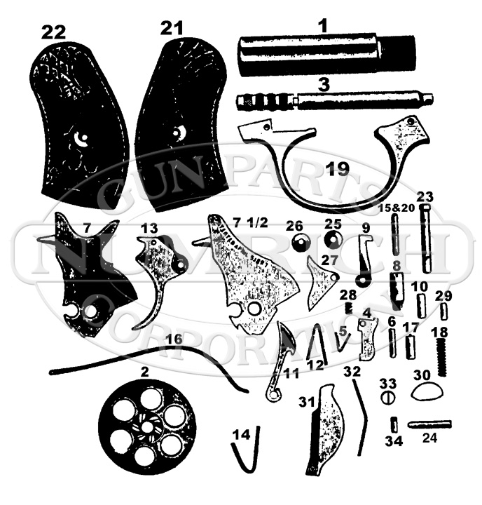 Harrington & Richardson Revolvers Young America gun schematic