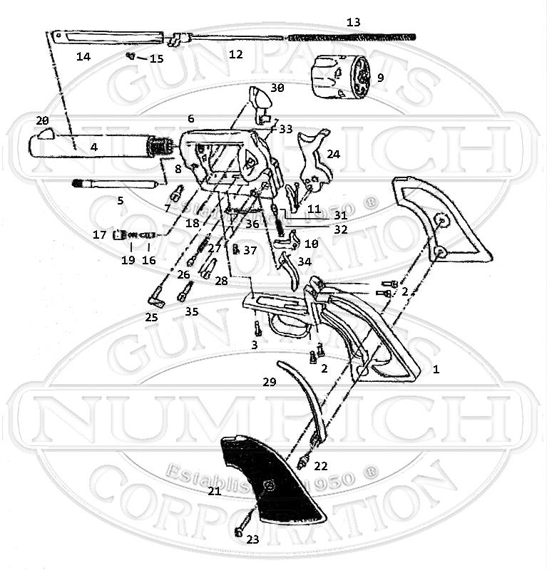 Heritage Mfgr. Rough Rider gun schematic