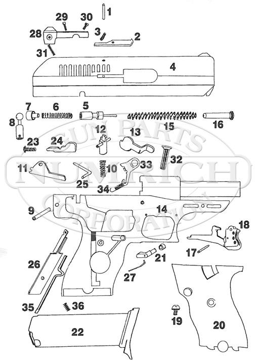 Hi-Point Model C gun schematic