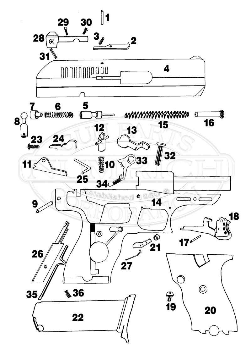 hi-point model c9 parts for sale | numrich  numrich gun parts