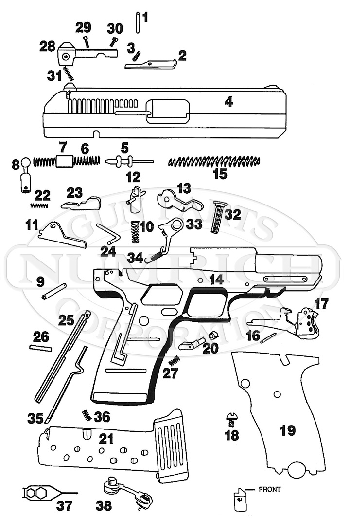 Hi-Point Model JHP gun schematic
