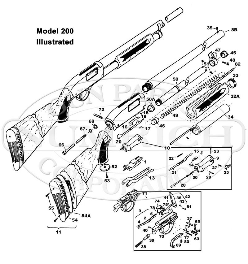 High Standard Shotguns 200 gun schematic