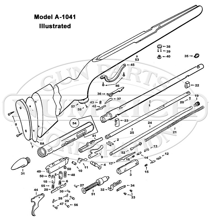 Sears Rifles 25 gun schematic