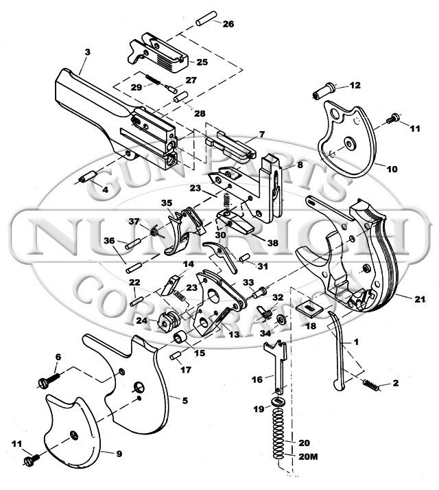 DM-101 Derringer Schematic | Numrich