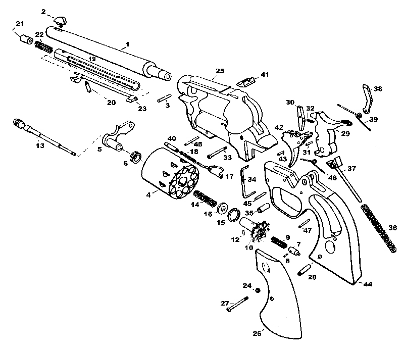 High Standard Revolvers Double Nine W-105 gun schematic