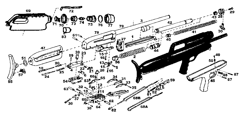 High Standard Shotguns 10A gun schematic