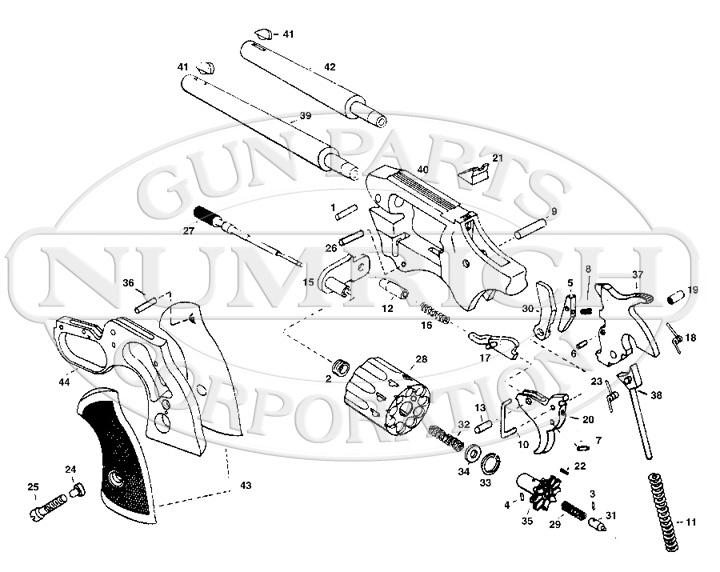 High Standard Revolvers Sentinel Deluxe R-107 gun schematic