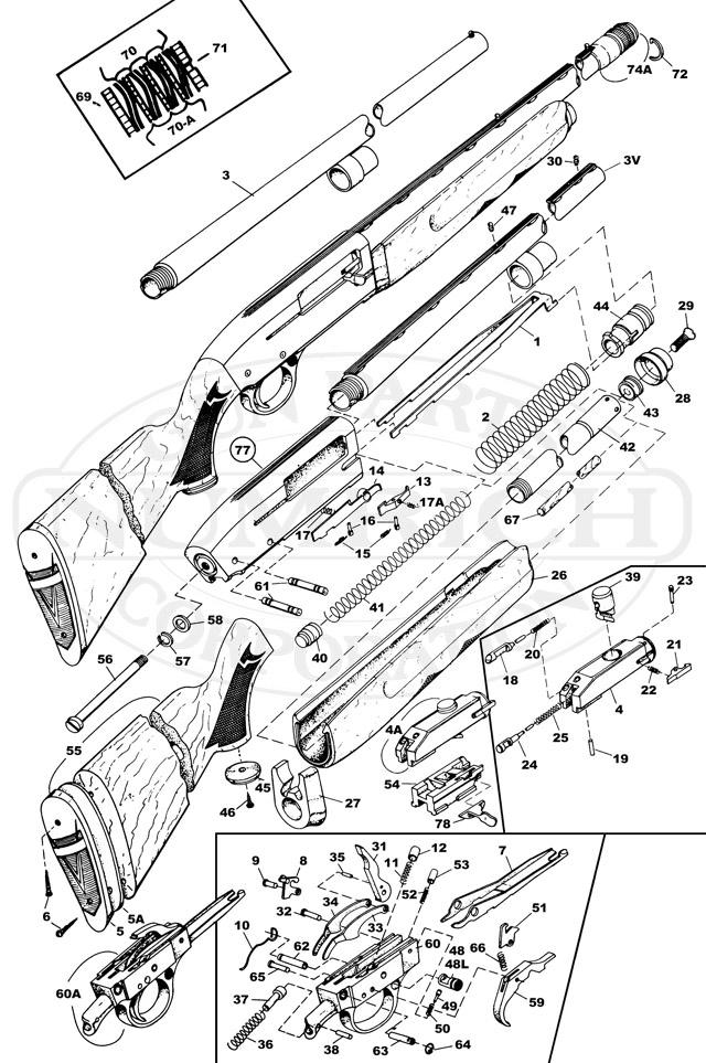 Western Auto Shotguns 425 gun schematic