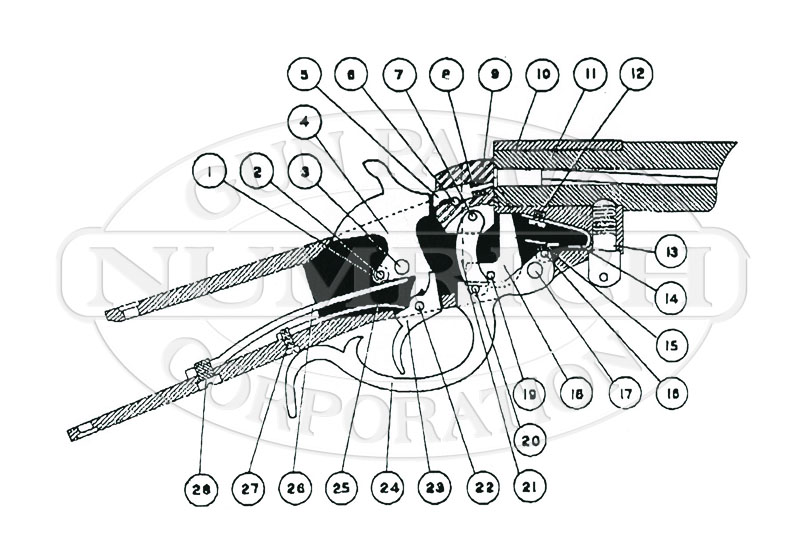 Hopkins & Allen Rifles 922 gun schematic