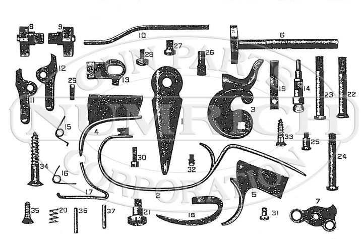 Hopkins & Allen Shotguns 100 Hammer Double Barrel gun schematic