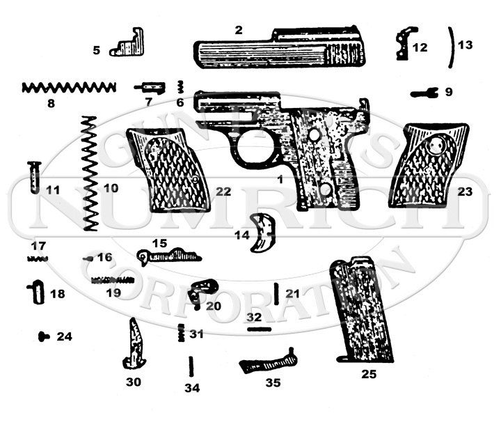 Indian Arms Model SM-11 gun schematic