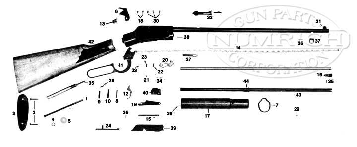 Ithaca & SKB Rifles 49 Repeater gun schematic