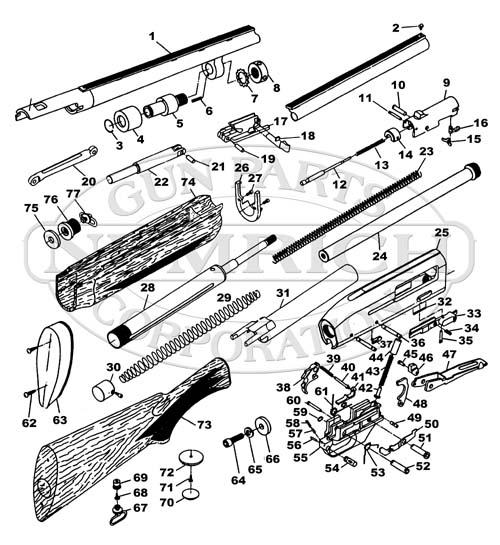 Ithaca & SKB Shotguns Mag 10 gun schematic