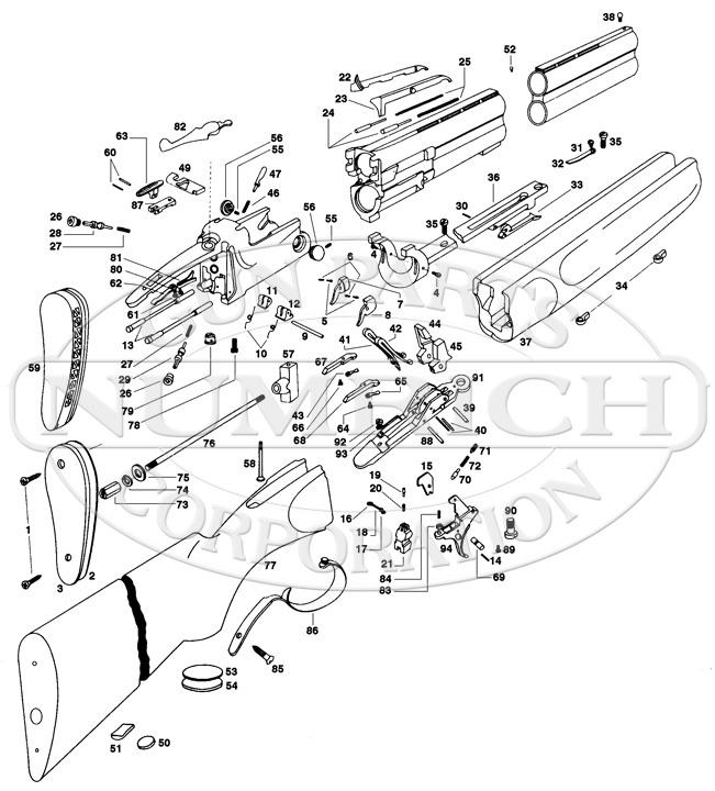Ithaca & SKB Shotguns 505 gun schematic