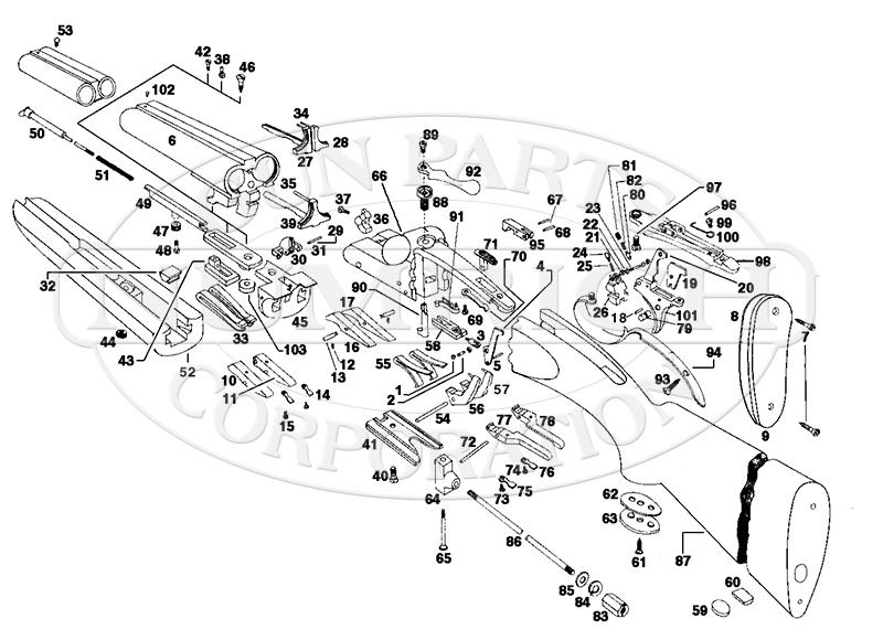 Ithaca & SKB Shotguns 150 gun schematic