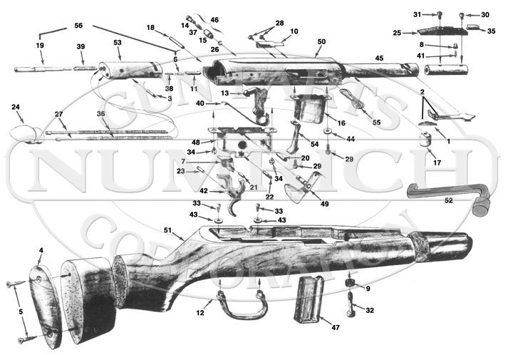 Ithaca & SKB Rifles X5 Lightning gun schematic