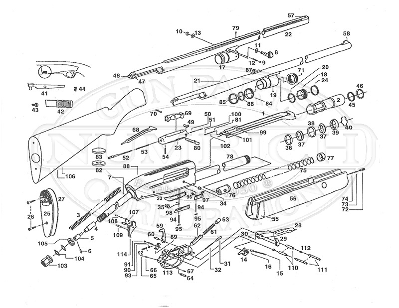 Ithaca & SKB Shotguns XL300 gun schematic