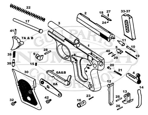 Iver Johnson Auto Pistols Compact 25 gun schematic