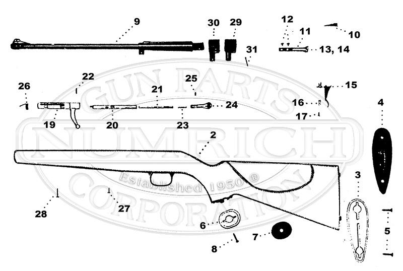 Iver Johnson Rifles LC gun schematic