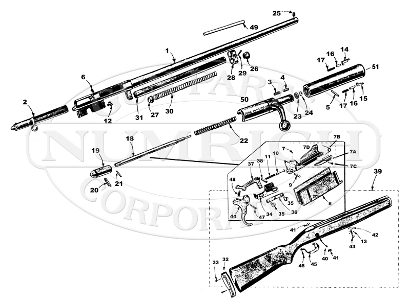 J.C. Higgins Shotguns 583.1 gun schematic