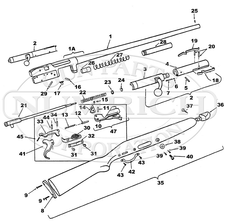 J.C. Higgins Shotguns 11 (583.1101) gun schematic