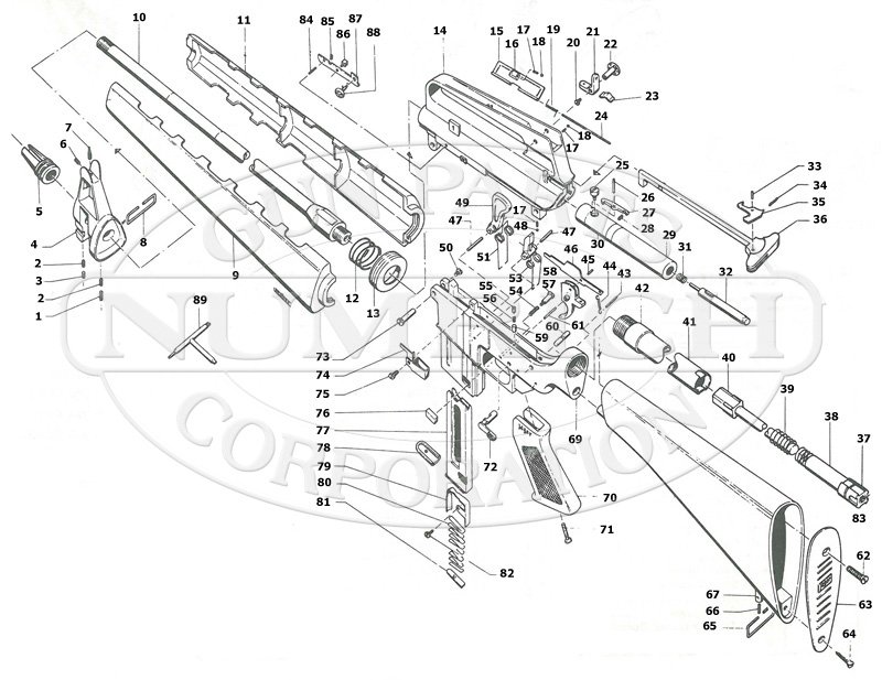 m16 rifle schematic