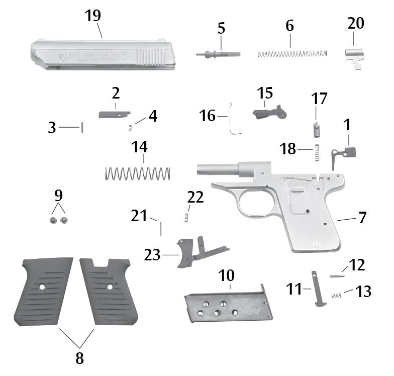 Jimenez Arms J A  25 Schematic | Numrich