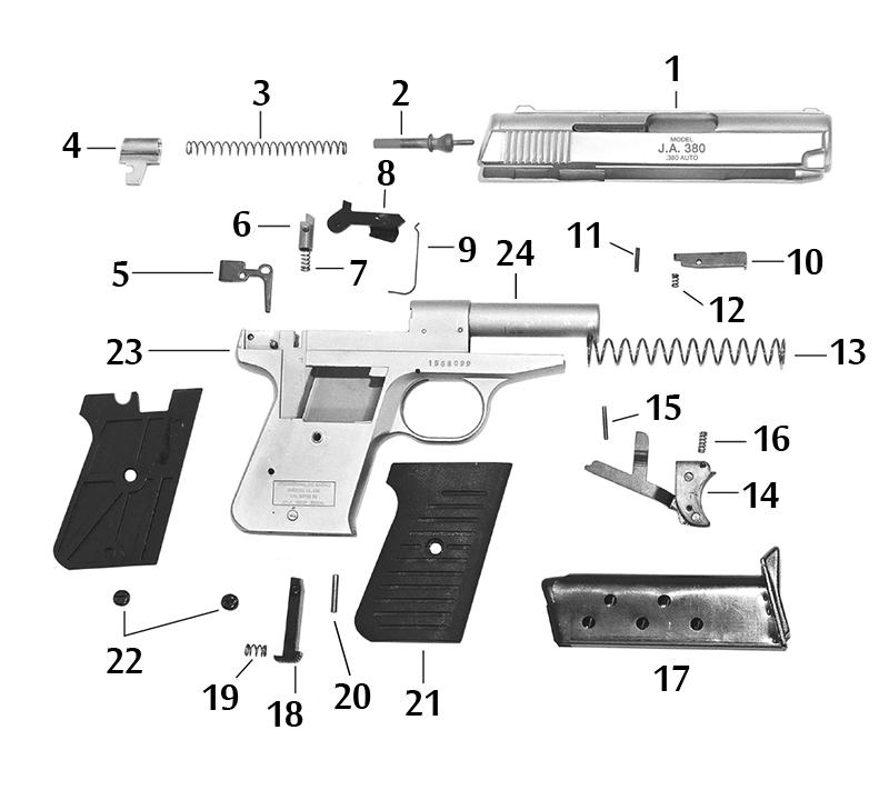 Jimenez Arms J A  380 Schematic | Numrich