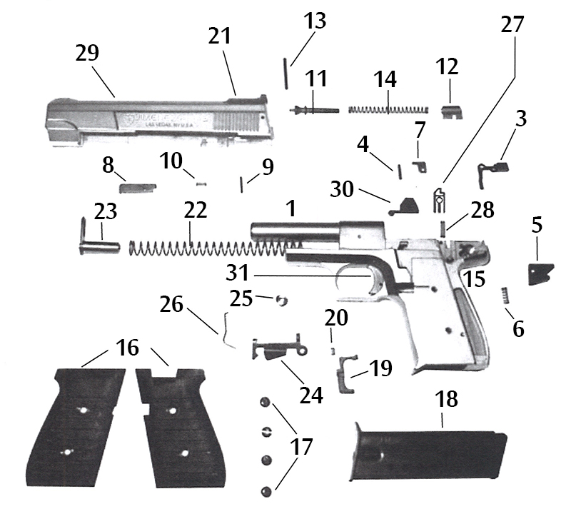 Jennings 59 9mm parts | www. Picsbud. Com.