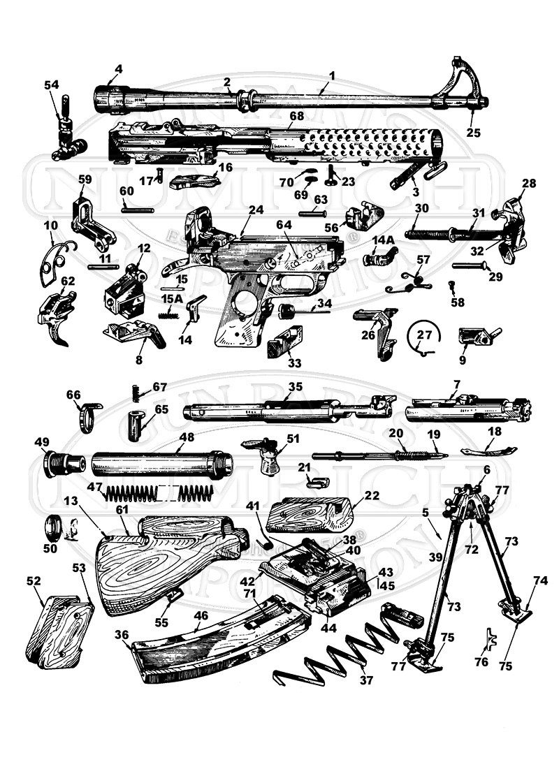 Johnson LMG 1941 gun schematic