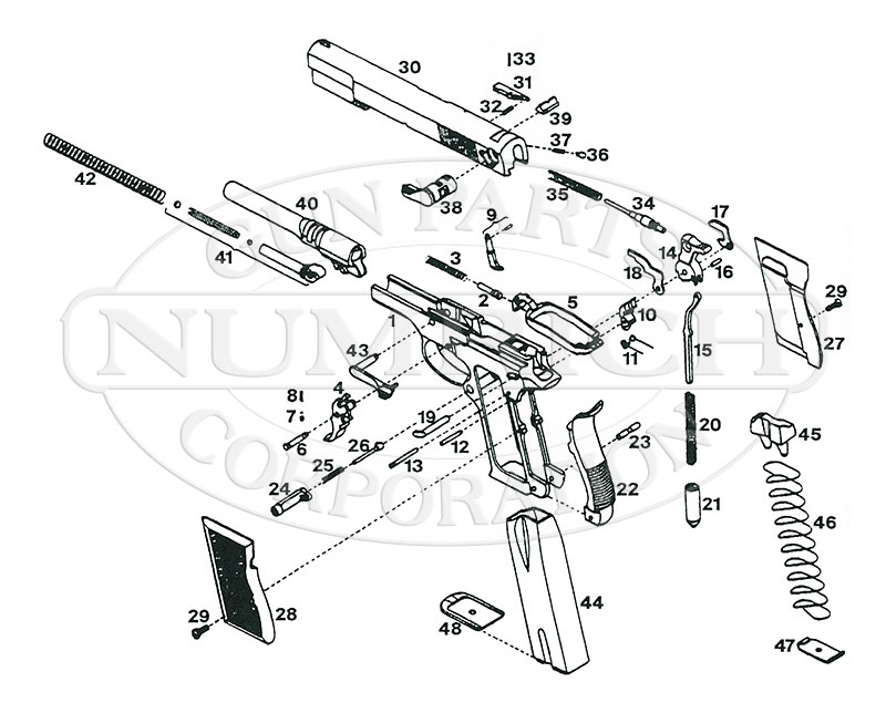 Interarms Auto Pistols R9 gun schematic