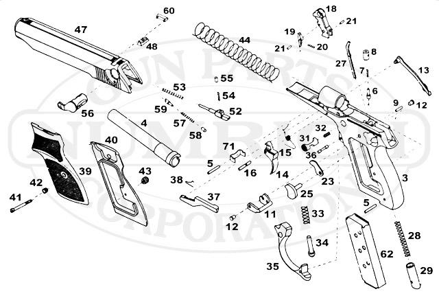 Interarms Auto Pistols PPH gun schematic