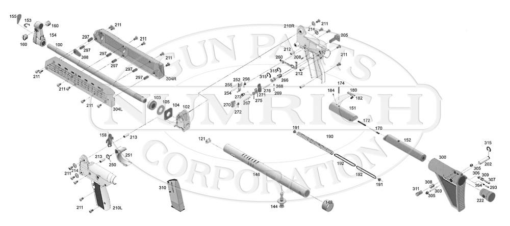 Kel-Tec SUB-2000 gun schematic