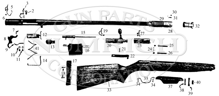 Buffalo Bill Bolt Action Shotgun gun schematic
