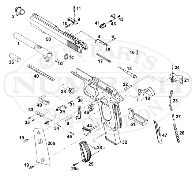 Llama 1911 Parts Diagram