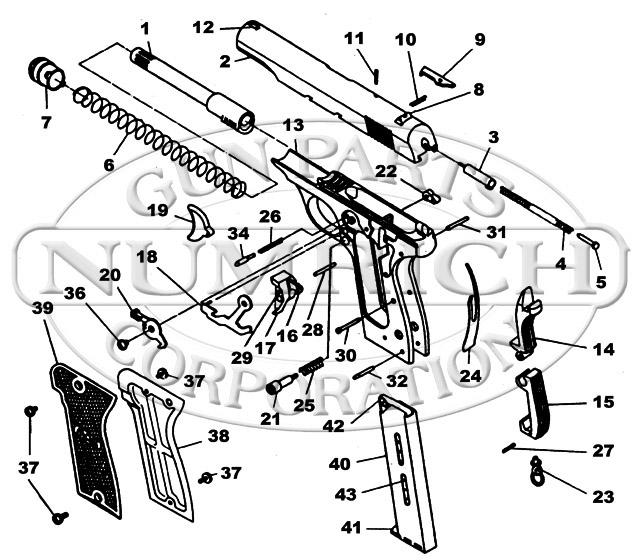 MAB Model D gun schematic
