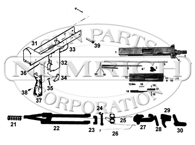 US Machinegun: M-11 Cobray SA Molded Wrap Around Grip, M-11 COBRAY ...